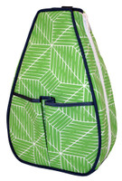 40 Love Courture Ladies Sophi Tennis Backpacks - Green Grid