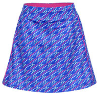 Turtles & Tees Junior Girls Tara Knit Pull On Tennis Skorts - Dots In One Print