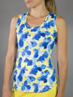 JoFit Ladies & Plus Size Volley Tennis Tank Tops - Limoncello (Phoenix Watercolor)