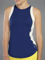 JoFit Ladies & Plus Size Ace Tennis Tank Tops - Limoncello (Blue Depth)