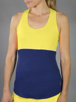 JoFit Ladies & Plus Size Loop Back Tennis Tank Tops - Limoncello (Vibrant Yellow)
