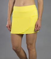 JoFit Ladies & Plus Size Kelly (Short) Tennis Skorts - Limoncello (Vibrant Yellow)