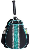 Ame & Lulu Ladies Love All Tennis Backpacks - Aqua Shutters