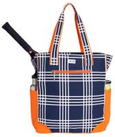 Ame & Lulu Ladies Emerson Tennis Tote Bags - Abbey Plaid