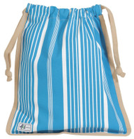 Ame & Lulu Ladies Raleigh Shoe Bags - Ticking Stripe