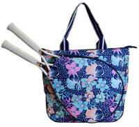 All For Color Ladies Tennis Tote Bags - Midnight Blooms