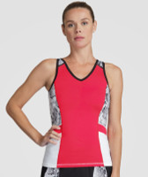 Tail Ladies & Plus Size Alicia Tennis Tank Tops - Red Hot (Aurora)