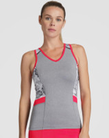 Tail Ladies & Plus Size Alicia Tennis Tank Tops - Red Hot (Frosted Heather)
