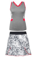 Tail Ladies & Plus Size Tennis Outfits (Tank Tops & Skorts) - Red Hot (Frosted Heather/Boa)