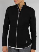 JoFit Ladies & Plus Size Vitality Fitness Jackets - Sangria (Black)