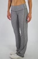 JoFit Ladies & Plus Size Packable Pull On Fitness Pants - Sangria (Carbon Diagonal Stripe)