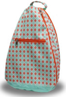 NTB Ladies Tennis Backpack - Sadie (Coral Diamond)