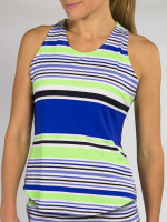 JoFit Ladies & Plus Size Whitby Sleeveless Tennis Tank Tops - Mai Tai (Mai Tai Stripe)