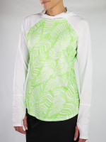 JoFit Ladies & Plus Size Spectrum Long Sleeve Tennis Tops - Mai Tai (Honeydew Palm)