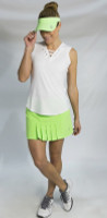 JoFit Ladies & Plus Size Tennis Outfits (Tanks & Skorts) - Mai Tai (White/Honeydew)