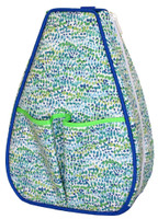 40 Love Courture Ladies Sophi Tennis Backpacks - Flecks with Lime Green Lining