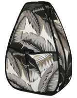 40 Love Courture Ladies Sophi Tennis Backpacks - Palms with Black Lining