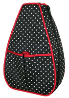 40 Love Courture Ladies Sophi Tennis Backpacks - Polka Dot with Red Lining