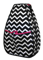 40 Love Courture Ladies Sophi Tennis Backpacks - Chevron with Pink Lining