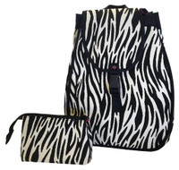 40 Love Courture Ladies Maddie Tennis Backpacks - Zebra with Pink lining