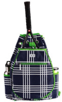 Ame & Lulu Ladies Kingsley Tennis Backpacks - Parker Plaid