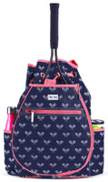 Ame & Lulu Ladies Kingsley Tennis Backpacks - Match Point (Navy & Pink)