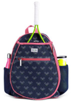 Ame & Lulu Junior Tennis Camper Backpacks - Match Point (Navy & Pink)
