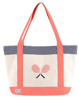 Ame & Lulu Ladies Tennis Lovers Tote Bags - Blaine