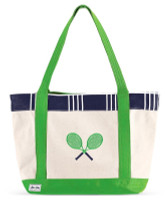 Ame & Lulu Ladies Tennis Lovers Tote Bags - Parker Plaid
