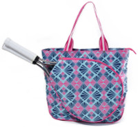 All For Color Ladies Tennis Tote Bags - Summer Rays (Pink & Navy)