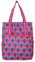 All For Color Ladies Tennis Shoulder Bags - Bali Blooms (Pink & Blue)