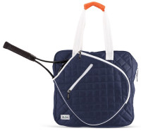 Ame & Lulu Ladies Sweet Shot Tennis Tote Bags - Navy & White