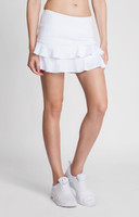 "Tail ""Essentials"" Ladies & Plus Size Doubles Flounce Skort - White"