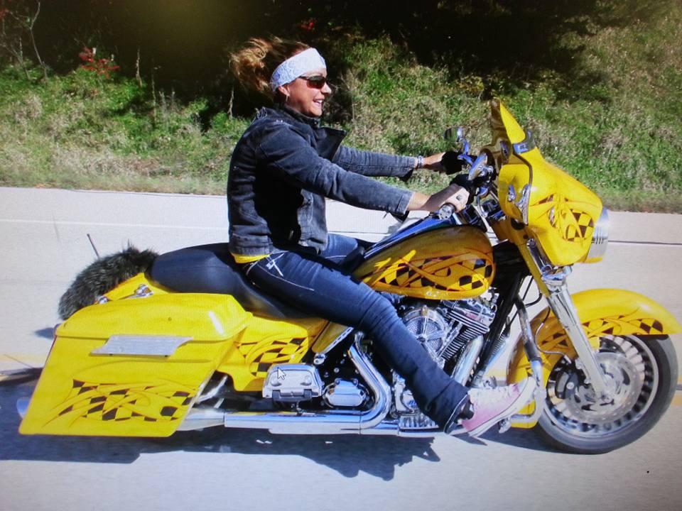 Brenda B. on her favorite ride. #GoBrazen!