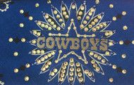 Bandana, touchdown success with this Dallas cowboys headband - bandana. American made bandana loaded with Swarovski crystals rhinestones.  Check out all the football NFL. Bandanas Go Brazen.com stocks, don't see your team, just pop us a message. Shop on line or stop by their store in Red Wing, Minnesota