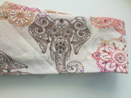 Bandana, sassy elephant with light Swarovski and Austrian crystal rhinestones highlighting the designs.  Want a no tie closure in back, just choose that option when checking out!  Check out all the amazing bandanas that Go Brazen has on line or swing on by their store in Red Wing, Minnesota