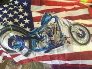 Flag, American Flag with Motorcycle 3x5' FREE SHIPPING