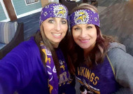Bandana, Sports Vikings Lt Bling Purple FREE SHIPPING