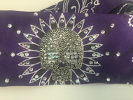 Bandana, Skull Metal Sugar Purple FREE SHIPPING