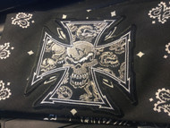 Bandana, Mandana Celtic Cross Skull Black