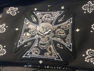 Bandana, xx Celtic Cross Skull Black