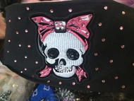 Bandana, Skull Pink Bow FREE SHIPPING