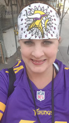 Ultimate Sports Fan Bandana, loaded to the gills with Swarovski and Austrian Crystals... TOUCHDOWN #SKOL