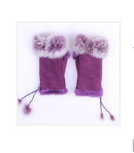 Gloves, Fingerless Purple