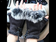 Gloves, Fingerless Black