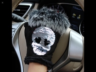 Gloves, Fingerless Skull Sequin