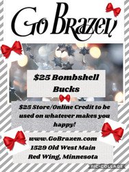 GIFT CERTIFICATE, $25 & you get $5 Store-Online Credit