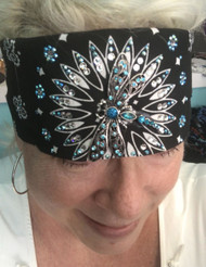 Bandana, Dragonfly Black with Blue FREE SHIPPING