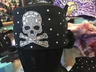 Bandana, Skull Bling on Black FREE SHIPPING