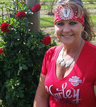 Bandana, Angel Wing Red FREE SHIPPING